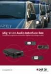MAIB - Migration Audio Interface Box pei tel